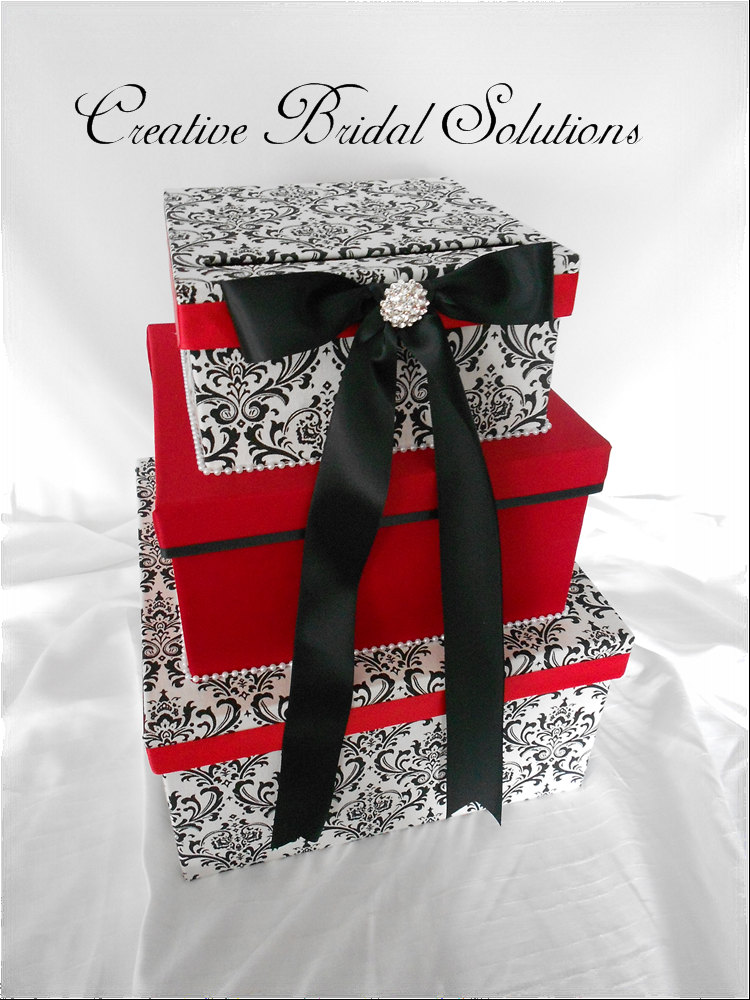 Wording For Wedding Gift Card Box : damask wedding post box AlternaBrides