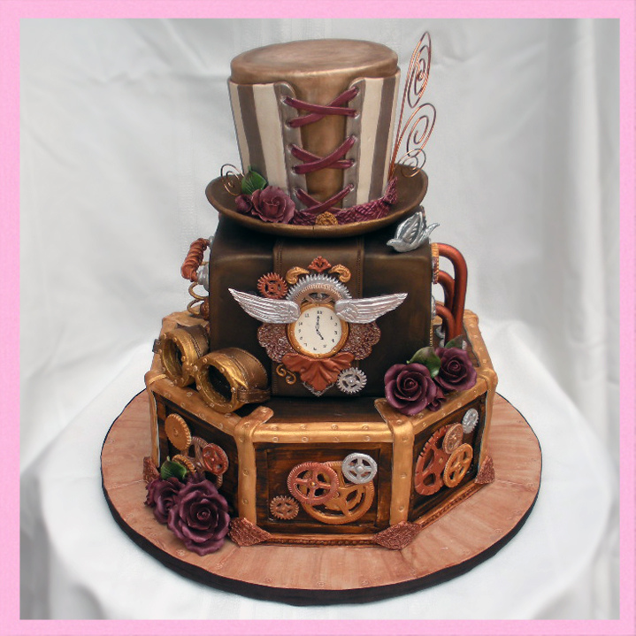 Make Steampunk Wedding Cake