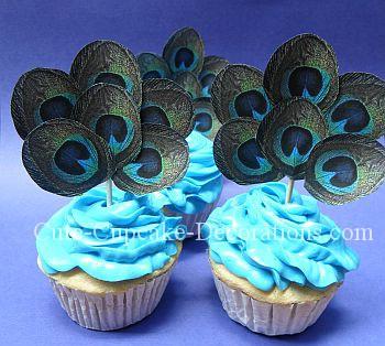 peacock-cupcakes